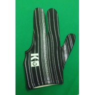 3 Finger Black Strip Glove