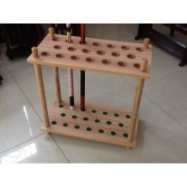 20 Holes Standing Wooden Cue Rack